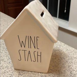 Rae Dunn wine stash